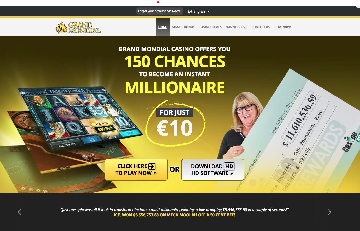 Grand mondial casino spin