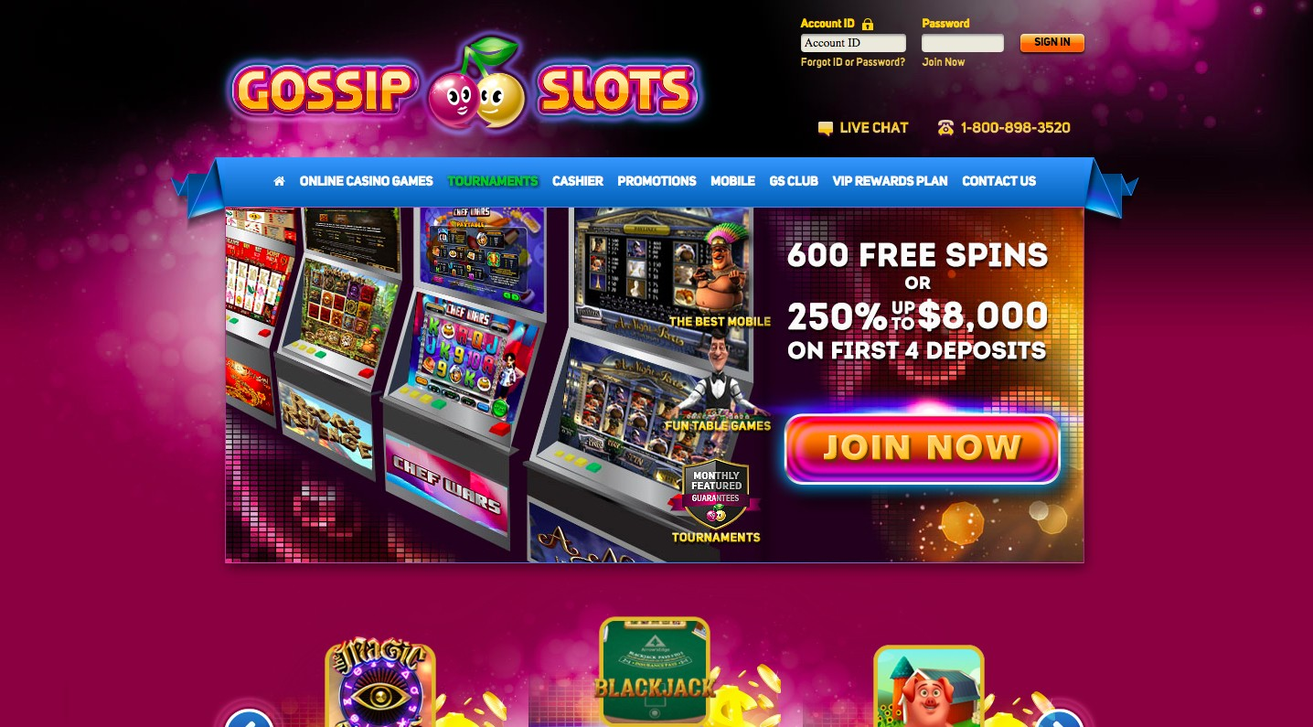 Gossip Slots Casino Review 2020 Sign Up And Get 800 Free Spins