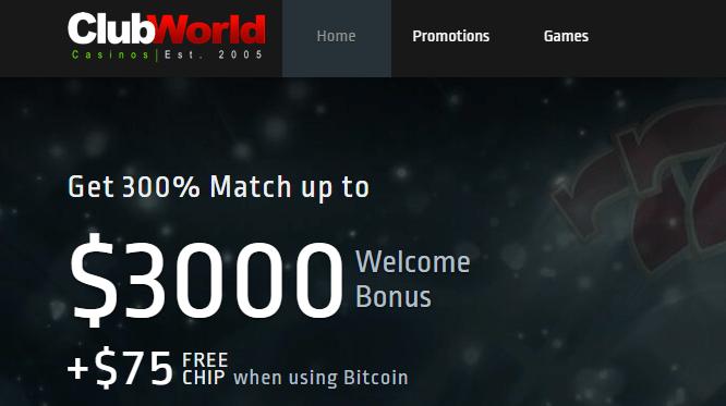 Club World Casino Free Chip