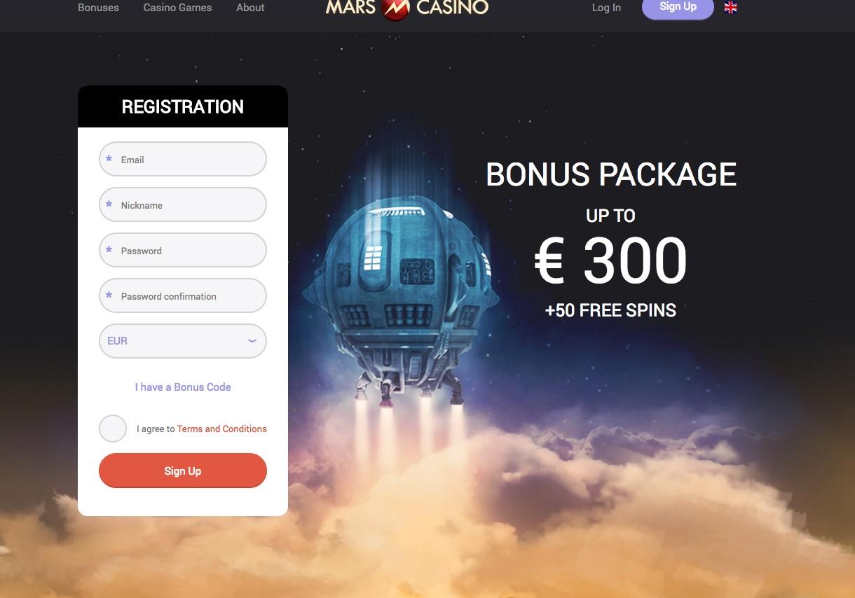 Online casino met registratie bonus